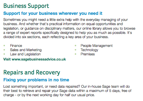 Business Support Repairs & recovery